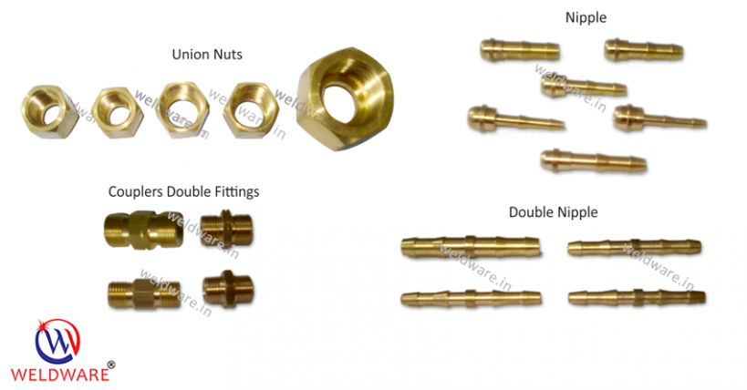 WELDWARE Supporting Products-Hose Pipe Brass Fittings